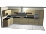 Příklady vizualizací kuchyňských linek